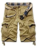 Menschwear - Pantalón corto - para hombre beige caqui  Cintura 34' Regular