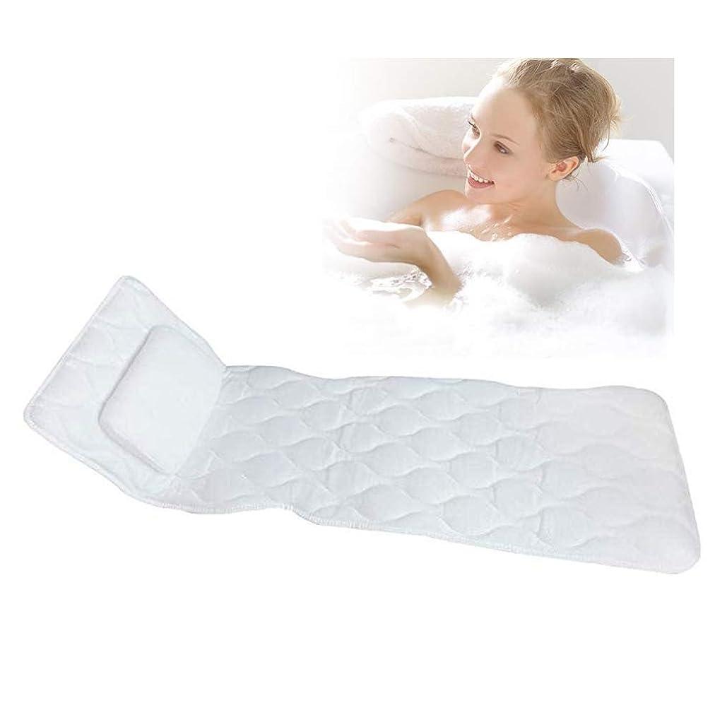 卵製造業カバー滑り止めサクションカップとコンフォートヘッドレスト付き3D換気ボディフィッティングバスピローマット浴槽通気性クッションマットレス
