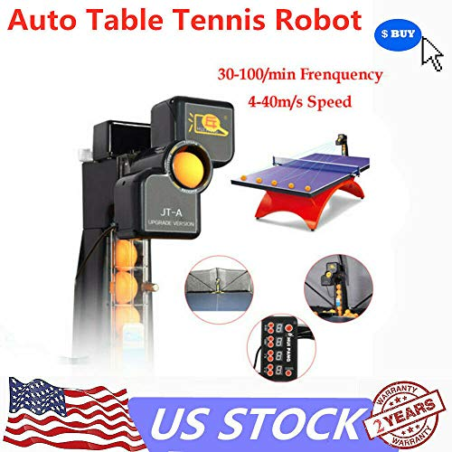 Read About CNCEST Multifunctional Profession Automatic Table Tennis Robot Motor Upgrade Ping Pong Tr...