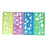 Chytaii 4pcs Regla Suave Herramientas de Dibujo Regla de Plástico Plantilla de Pintura Infantil Regla de Dibujo Regla Niño Cuatro Colores