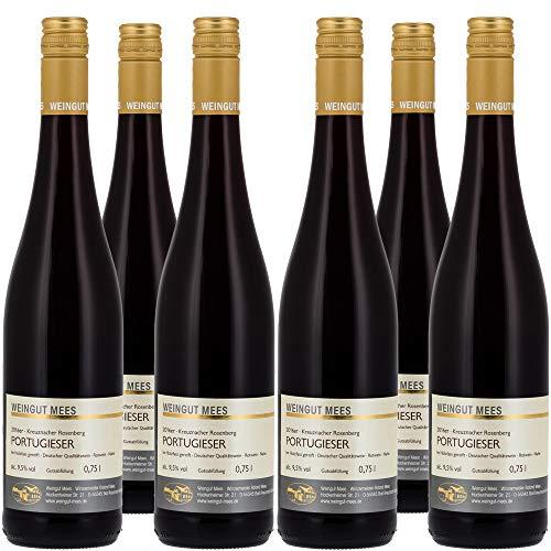 Weingut Mees PORTUGIESER ROTWEIN LIEBLICH SÜSS 2018 Gutswein Deutschland Nahe Prämiert (6 x 750 ml) 100% Blauer Portugieser
