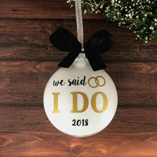 We said I Do Ornament