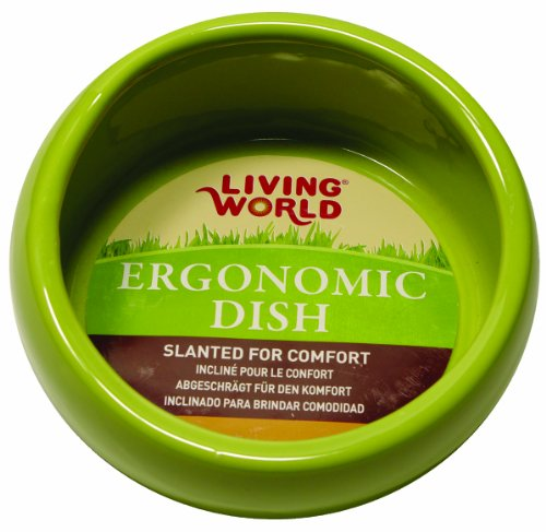 Living World Ergonomic Food Dish, for Small Animals, Green, Small, 4.22 oz, 61680A1