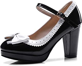 Best cute black bow knot high heels fashion shoes Reviews