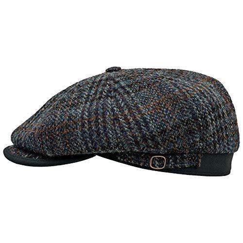 Sterkowski Malone | Vintage Harris Tweed Mens Berretto piatto | Classico Newsboy 8 Panel Baker Boy Hat Shelby Gatsby Accessori Uomo Colore: blu scuro. 6.625