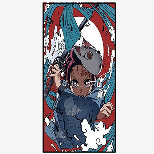 KaO0YaN Toalla de Playa Cuadrada Divertida para niños, Tapiz de Anime de Devil'S Blade 80x160cm, Mantel de decoración del hogar de Devil'S Blade, tapete de playa-14