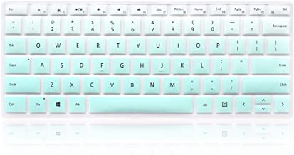 ProElife Ultra Thin Silicone Keyboard Cover Skin for 12.3-Inch Microsoft Surface Pro 4 5 6 Type Cover Keyboard (Fade in Turquoise Blue), Waterproof Washable Keyboard Protector