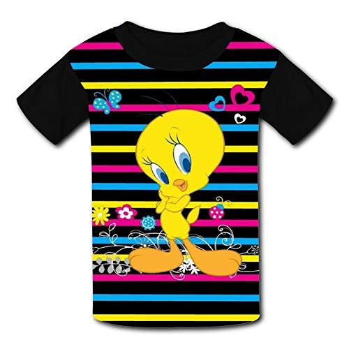 Maglietta da bambino con grafica 3D, a maniche corte, per ragazzi e ragazze Tw-Eety Uccello 3 XS
