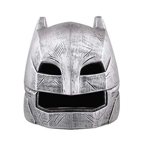 MODRYER 1:1 Batman Helmet Heavy Armored Helmet Real Wearable Props Halloween Party Cosplay Costume Gift for Adult Teens,Silver