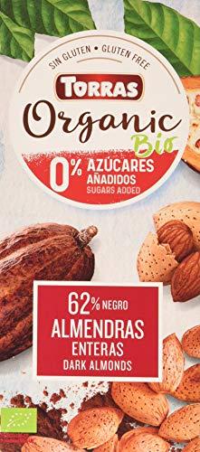 Torras Chocolate Negro 62 Cacao Con Almendras Enteras Bi Bio Sin Azucar 150 Gramos - 200 g