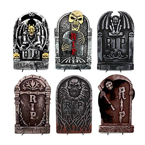 FWwD Halloween-Dekoration, dreidimensionaler Schaumgrabsteinkammerhorror-Szenenplan stützt Kirchhofrasen-Erinnerungsgarten decoratio