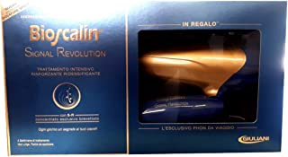 Bioscalin Signal Revolution Intensive Treatment + The Travel Hairdryer As A Gift - Redensifying Treatment - First Application - New Beauty - Fuller Hair - Immediate Benefits - Hair Care - Italy