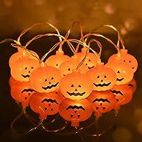 Hai fei Halloween Decorations 3D Pumpkin String Lights