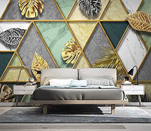 Papel tapiz 3D forma geométrica DIY sala de estar dormitorio Mural decoración del hogar TV cabecera arte Pared Pintado Papel tapiz Decoración dormitorio Fotomural sala sofá mural-350cm×256cm