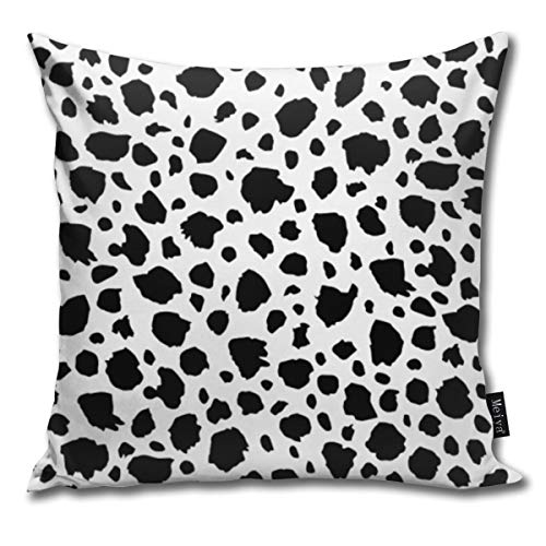 nonebrand Spotted Animals Wildlife Dalmation Cushion Covers Home Decorative Throw Pillowcases for Livingroom Sofa Bedroom Car 18X18inch