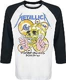 Metallica Shortest Straw Langarmshirt weiß/schwarz XL