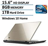 2016 Toshiba Satellite L55 15.6' Flagship High Performance Laptop PC, Intel Core i5-5200U Processor, 8GB Memory, 1TB HDD, DVD+/-RW, Windows 10, Satin Gold