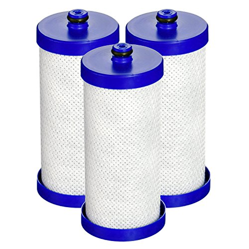 Waterdrop WF1CB Refrigerator Water Filter, Compatible with WF1CB, WFCB, RG100, NGRG2000, WF284, 9910, 469906, 469910, Pack of 3
