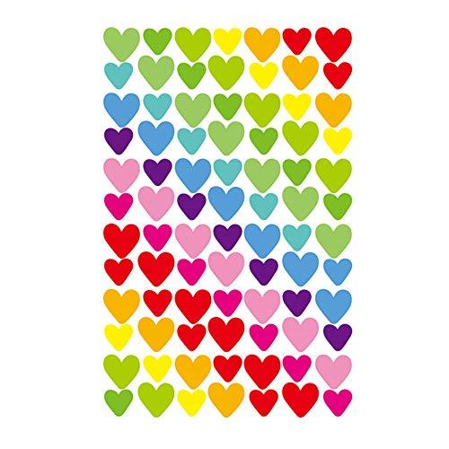 Ogquaton Calcomanías en Forma de corazón Calcomanías de recompensa Calcomanías artesanales para Maestros Padres Niños Craft Scrap Books Decoración Multicolor Creativo y útil