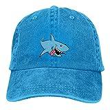 おぞましいサメが可能なデニムキャップを調節します