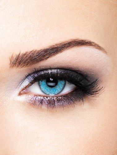 Edit farbige Kontaktlinsen Blau / Glimmer ohne Stärke