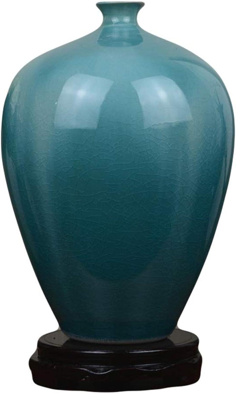 Pot fleur Vase Vase en Céramique Bleu Creative Crack De Glace Salon Européen ArrangeHommest de Fleurs Maison Modèle Salle Douce Décoration OrneHommests Artisanat (Taille   S)