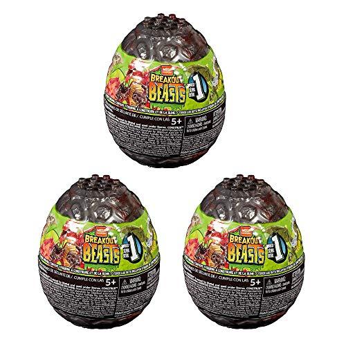 Mega Brands Breakout Beasts Slime Huevos Serie 1 (Paquete de Tres Huevos Sorpresa)
