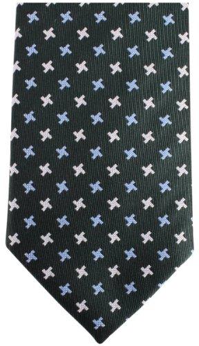 Knightsbridge Neckwear Dark Green Kensington Cross Silk cravate de