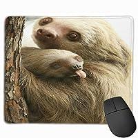 ナマケモノの抱擁 マウスパッド ノンスリップ 防水 高級感 習慣 パターン印刷 ゲーミング ホビー 事務 おしゃれ 学習