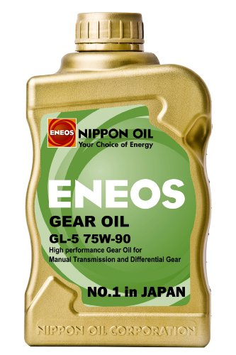 Eneos (Gear Oil CS GL5 75w-90 Manual Transmission and Differential Gear Fluid- 1 Quart, (Pack of 6)