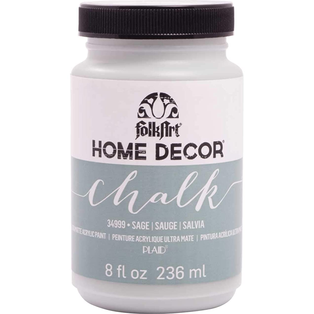 FolkArt 34999 Home Decor Chalk Furniture & Craft Paint in Assorted Colors, 8 Ounce, Sage
