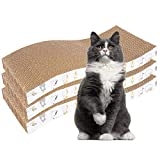 PatiencET 3 Pack Cat Scratcher Pad Recycle Corrugated Cat Scratching Pad Type S Cat Scratch Pad Lounger Sofa for Furniture Protector