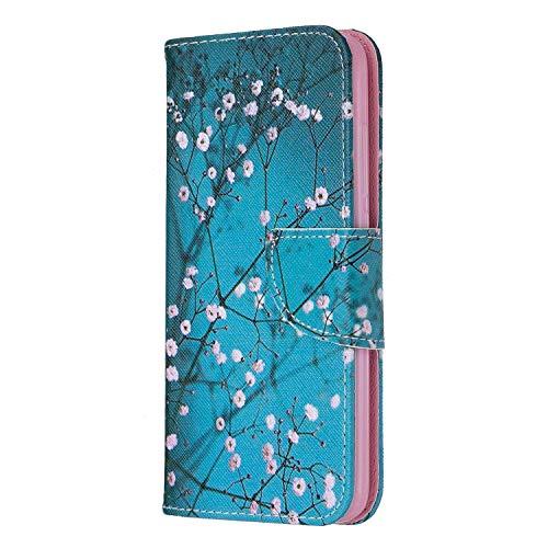 vingarshern Hülle für Huawei Honor 5C Handytasche Klappbares Magnetverschluss Flip Standfunktion Lederhülle Schutzhülle Honor 5C Hülle Leder Etui Brieftasche/MEHRWEG(Pflaumenblüte)