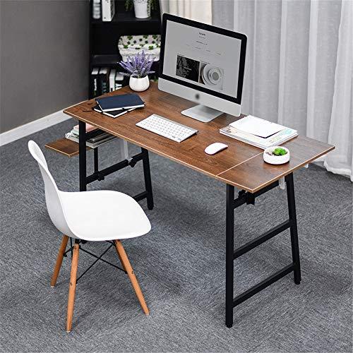 Escritorio De Computadora Mesa de ordenador de sobremesa del escritorio del hogar del escritorio del ordenador portátil Escritorio Escritorio Escritorio ( Color : Marrón , Size : 80 x 55 x 75cm )