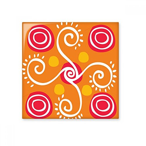 Plantas laranjas Totems do México Civilização Antiga Azulejo de cerâmica brilhante Decalque de tijolo vitrificado Pedra adorna
