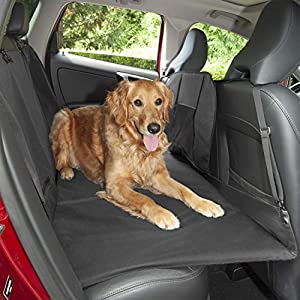 Furhaven Pet Dog Barrier and Furniture Cover – Universal Multipurpose Travel Barrier Seat Cover for Dogs with Padded Platform Backseat Bridge Extender Base and Carry Bag, Gray, One-Size