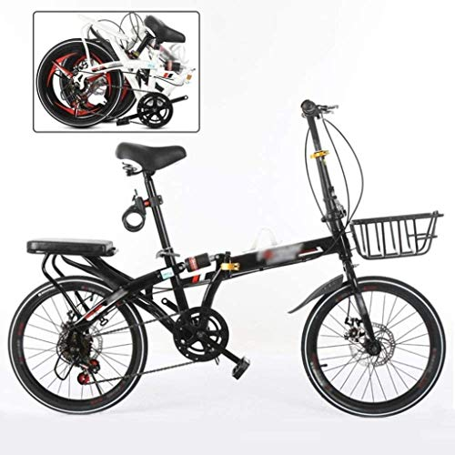 Niños for bicicleta de 20 pulgadas, bicicleta de los niños Juventud, plegable unisex for bicicleta, bicicleta plegable BMX, 7-Zoom Speed MTB, freno de disco 5-27 (Color: C) yqaae (Color : B)
