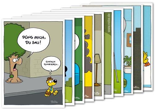 10er-Set: Postkarten A6 +++ MIX SET Nr. 2 von modern times +++ 10 lustige RALPH RUTHE-Cartoons +++ KÖPENICKER CG © RUTHE, Ralph/SHIT HAPPENS