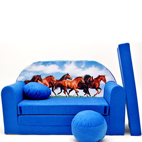 C29 enfants Canapé ausklapp Bar Canapé-lit canapé Mini Basse 3 en 1 Ensemble pour bébé + Fauteuil pour enfant et coussin d'assise + matelas