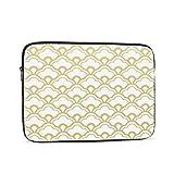 Housse de protection pour ordinateur portable 13 pouces avec coque festonnée dorée compatible avec...