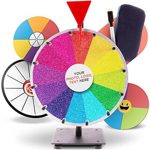 12Pack//2 Colors Hotusi Game Spinner Transparent Spinners Dry Erase Math Game Spinner with Rotating Arrow for Party Games and Teaching