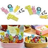 Toyandona - 20 forchette da frutta a forma di animale, per gattini e dessert, accessori per decorazioni per feste, per adulti e bambini