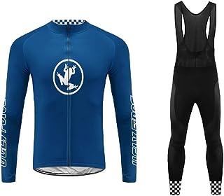 comprar comparacion Uglyfrog Ropa Ciclismo Hombre Invierno Chaqueta de Ciclismo de Manga Larga+Pantalones de Acolchado 3D para Hombres de Invi...
