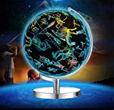 Globo terráqueo Iluminado 2 en 1 con Soporte - Constelación de luz Nocturna y Globo para niños con Mapa de constelación ilustrado, 25 cm / 10 Pulgadas