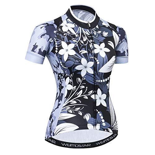 JPOJPO Radtrikot Damen Sommer Bike Trikot Bekleidung Rennrad Kleidung Shirts Kurzarm Fahrrad Tops