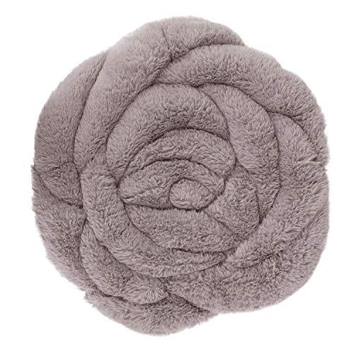 Moonlove Cojín para Silla con Forma de Rosa para Tatami, Almohadilla de Asiento ultrasuave y esponjosa para Oficina, hogar, Hotel, Silla, 45 cm de diámetro