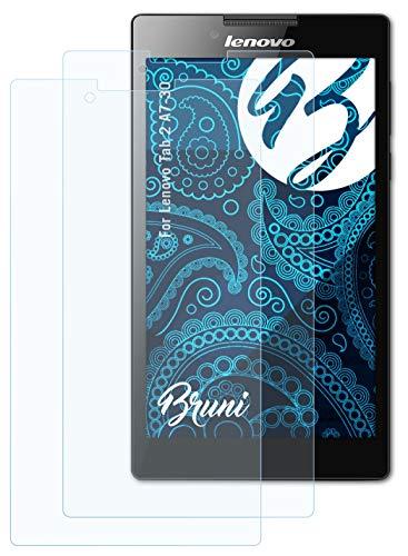 Bruni Schutzfolie kompatibel mit Lenovo Tab 2 A7-30 Folie, glasklare Bildschirmschutzfolie (2X)