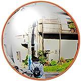 iimono117 カーブミラー 丸型 [30cm・80cm]/ガレージミラー 道路反射鏡 交通 交差点 車 バイク 歩行者 対策 事故防止 ミラー 駐車場 車庫 死角 路地 曲がり角 (30㎝)