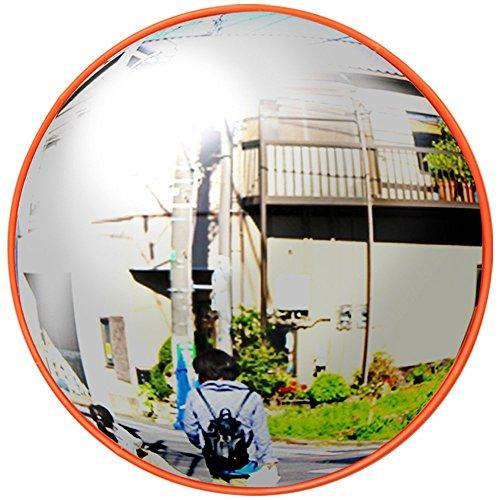 iimono117 カーブミラー 丸型 [30cm・80cm]/ガレージミラー 道路反射鏡 交通 交差点 車 バイク 歩行者 ...