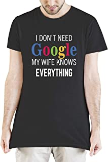 I Don't Need Google My Wife Knows Everything Sofia Clothing Graphic Printed T-Shirt Tee